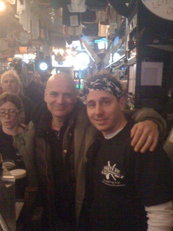Getting a beer with Brian Cashman at Foley s
