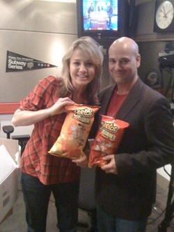 Michelle Beadle, eating her favorite snack ( Joey