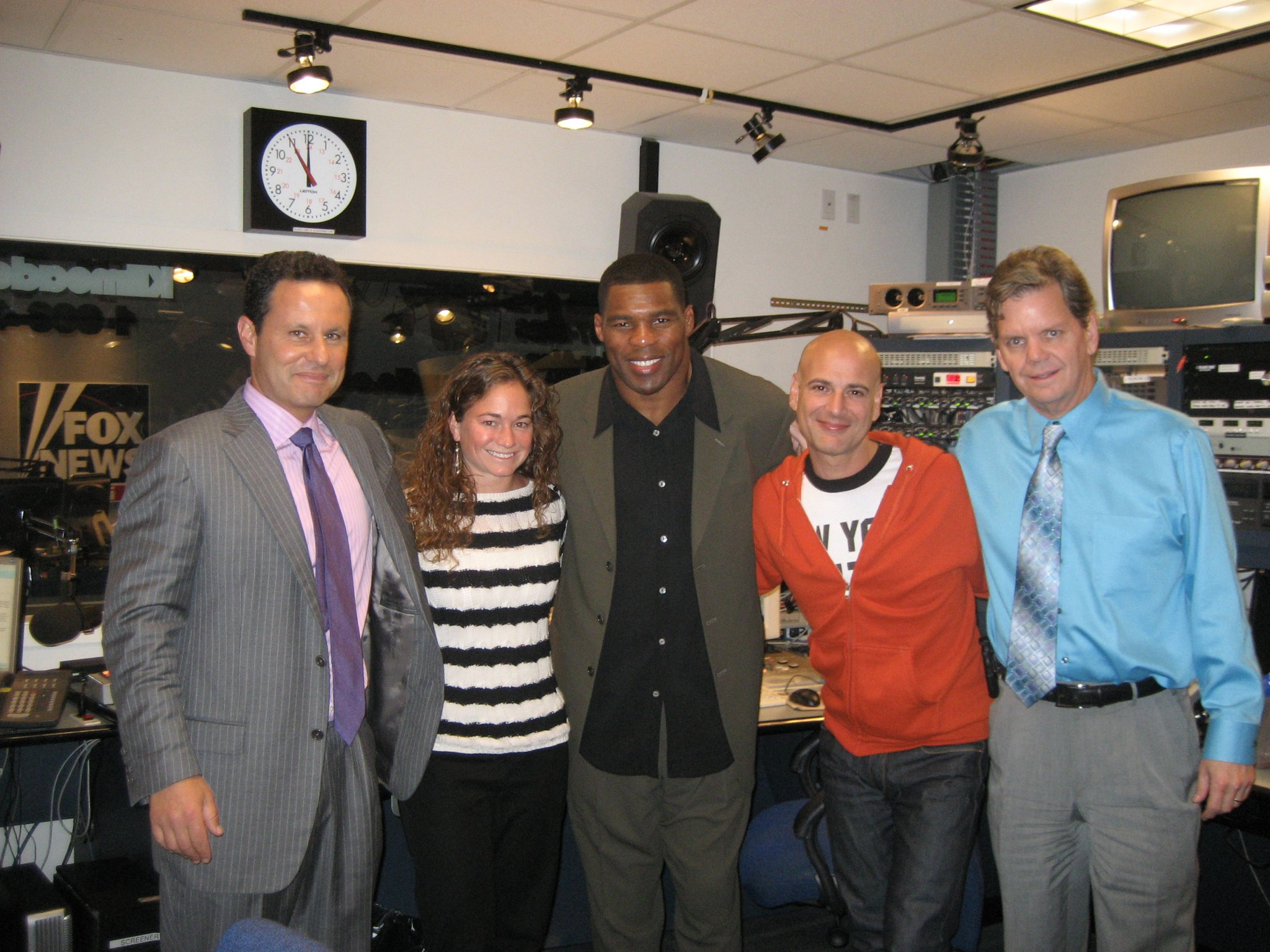 Herschel Walker with the cast of Brian Kilmeade &
