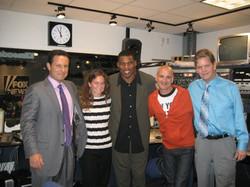 Herschel Walker with the cast of Brian Kilmeade &