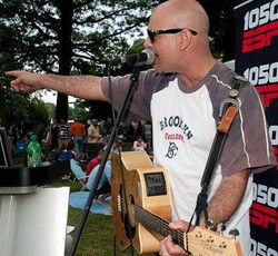 Performing a few songs for Espn listeners