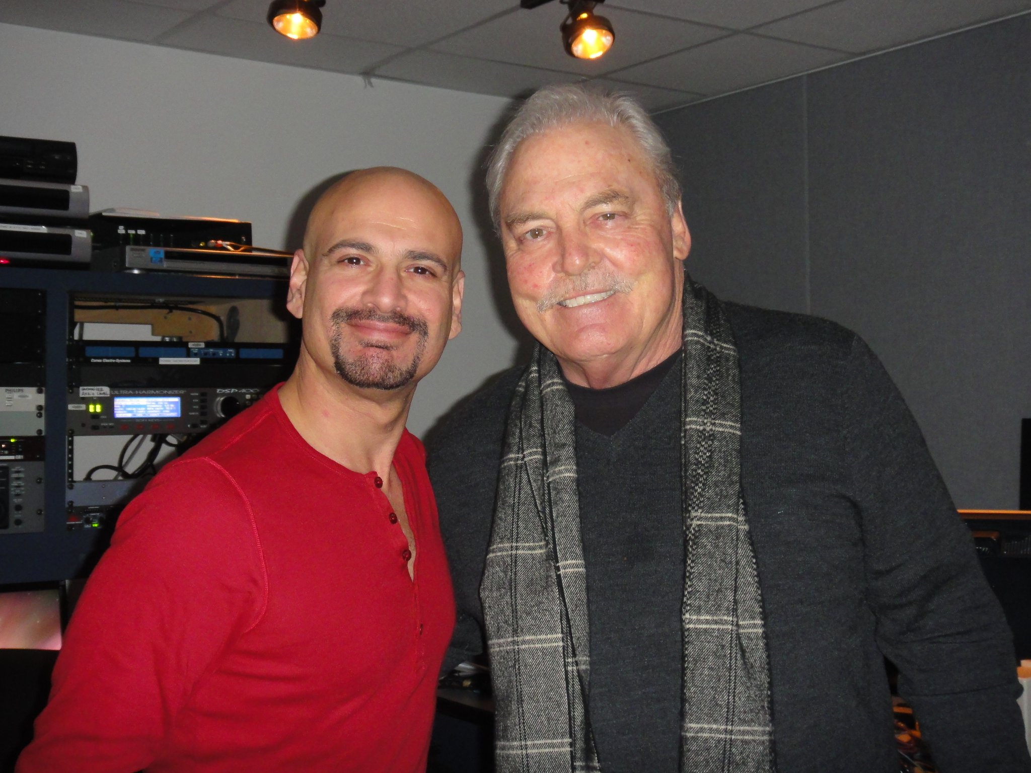 With the one and only Stacy Keach ( Joey Salvia )