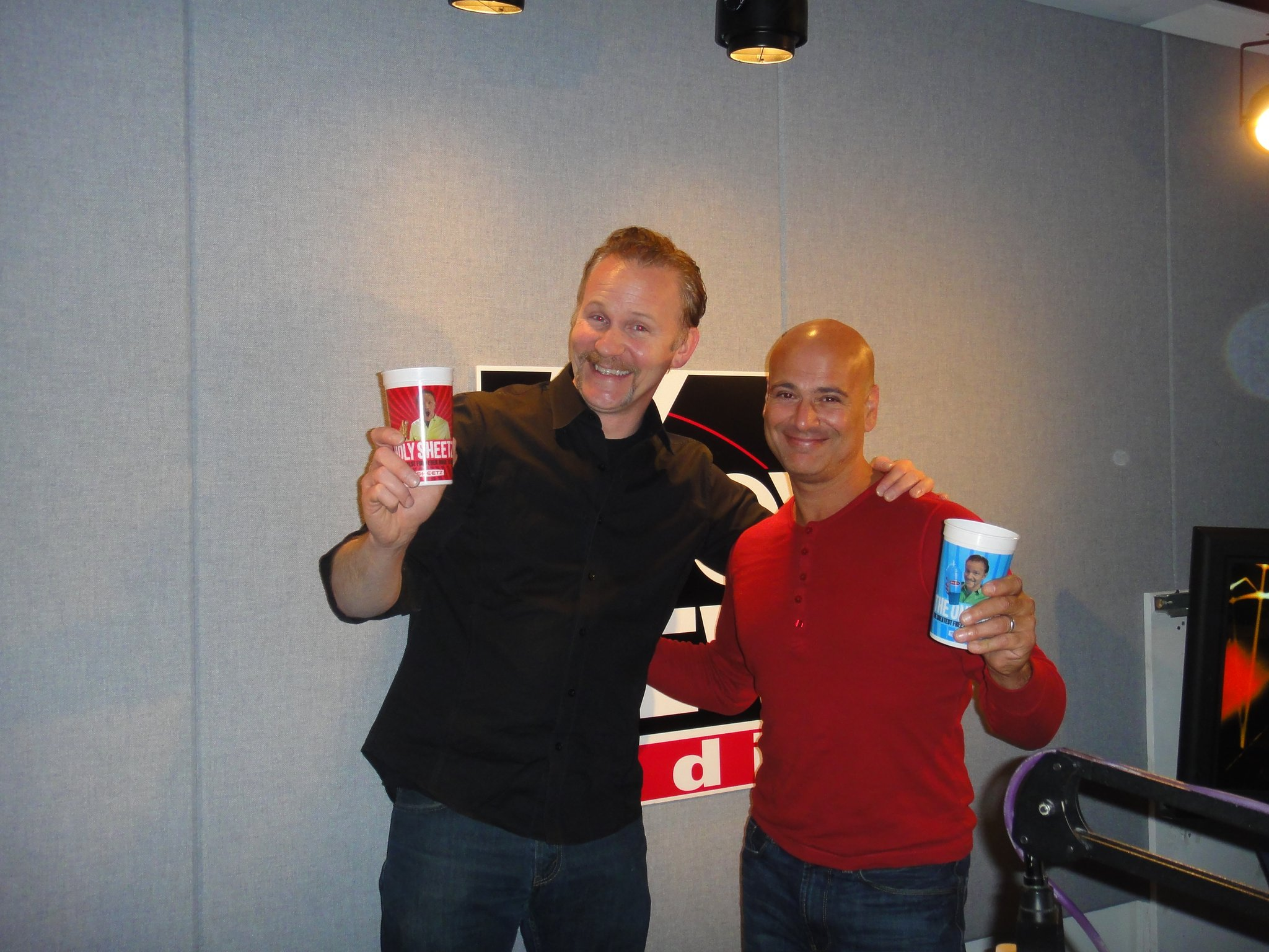 Hanging with my new pal, Morgan Spurlock See his n
