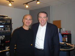 With my friend (and bandmate), Gov Mike Huckabee W