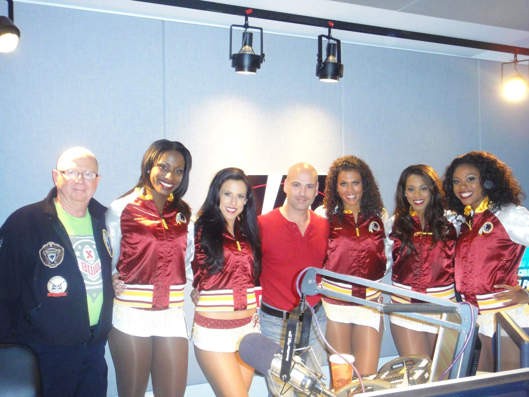 The Redskins Cheerleaders just came back from ente
