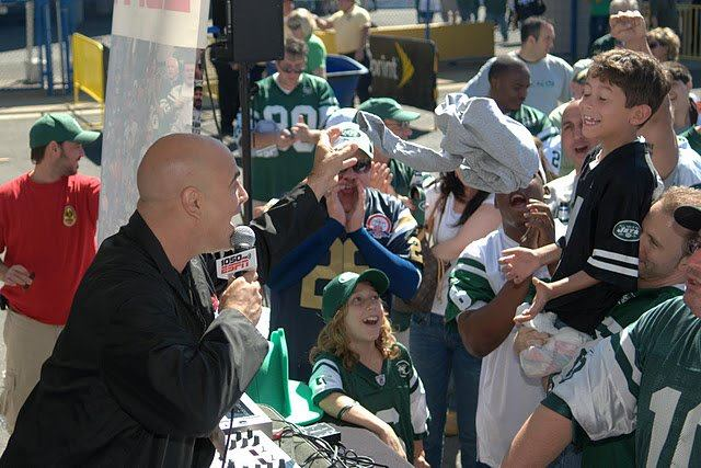 Pre-game for The Jets (ESPN, NY) Good times (taken