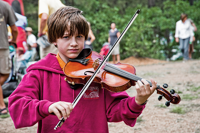 Fiddlin' at the festival