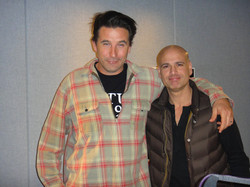 Billy Baldwin gives me a few acting tips Very cool