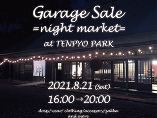 Garage Sale night marketat TENPYOPARK 開催のお知らせ