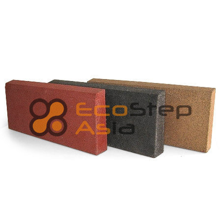 Травмобезопасный резиновый бордюр EcoStep-Asia 500х210