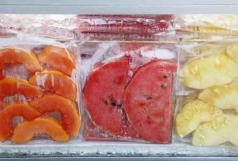 congelar frutas