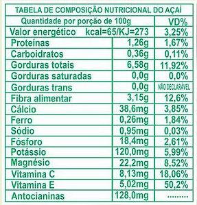 calorias açai