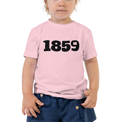1859 Black Logo Toddler Short Sleeve Tee