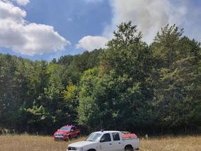 Incendio in contrada Difesa 27 agosto 2020