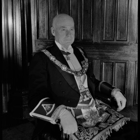 Newly installed Grand Master, His Excellency Lt.-Gen. Sir Charles Gairdner 1955 102972PD