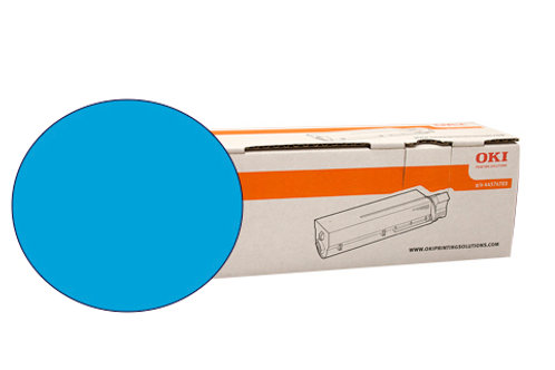 Cyan toner Cartridge for OKI C711WT(44318611)