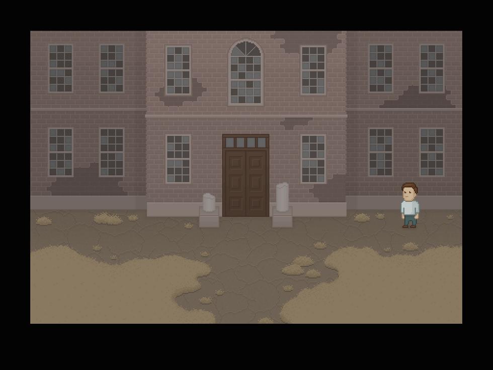 Asylum Entrance in the Shadows