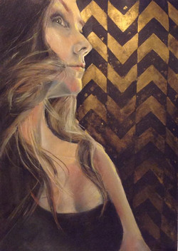 Self Portrait in Black and Gold