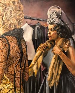 Actor in Fur Shawl