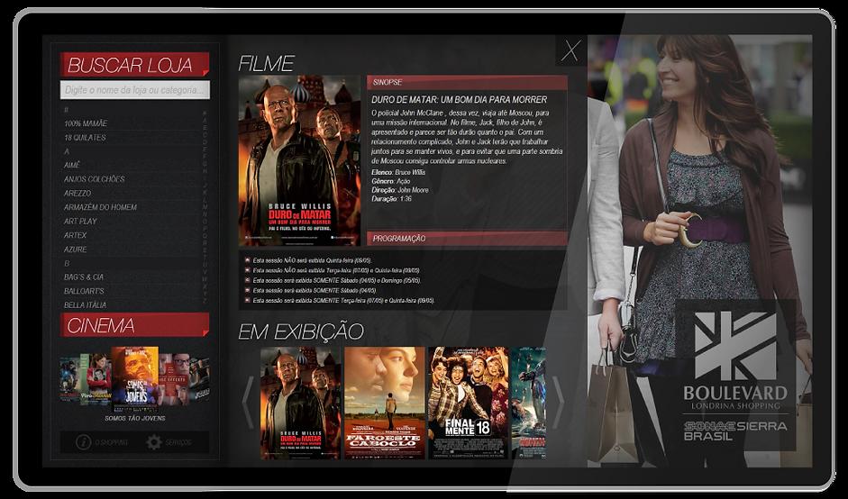Interface grafica diretorio - programação cinema e teatro