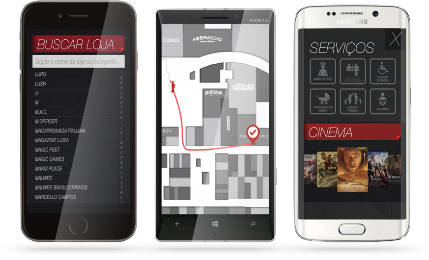 Trackmall App - Aplicativo Mobile diretório Shopping Mall