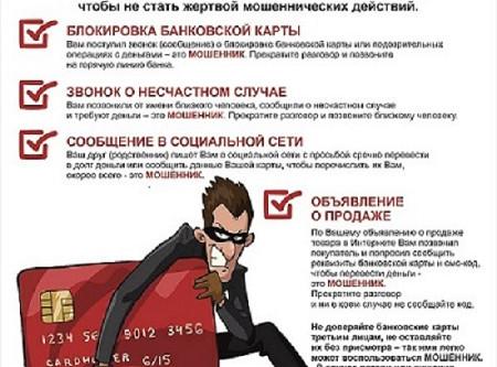 «Осторожно: мошенники! Не дай себя обмануть!».