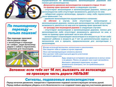 Берегите себя и соблюдайте правила дорожного движения!