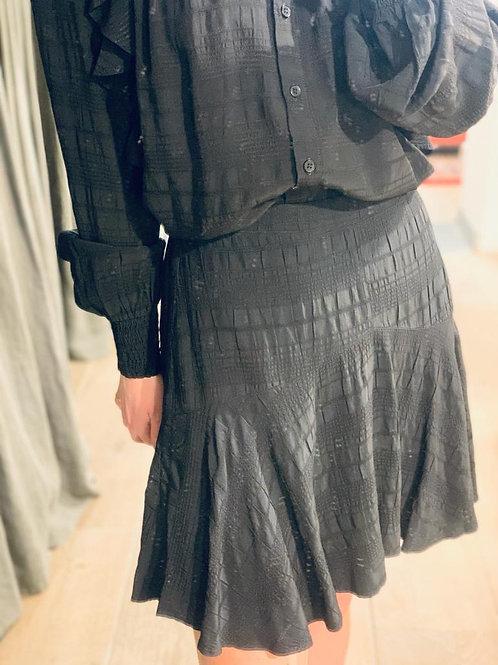 Woven seer sucker stripe skirt 2102265911