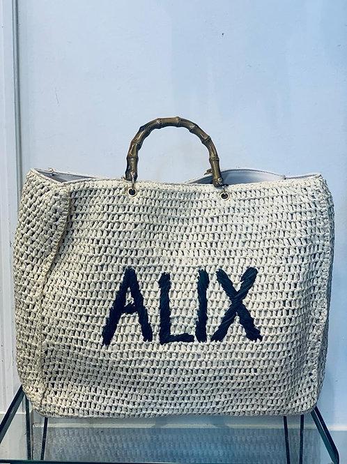 Woven Alix paper crochet shopper 2106023050