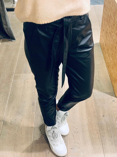 Indie leather trousers Caviar 53581