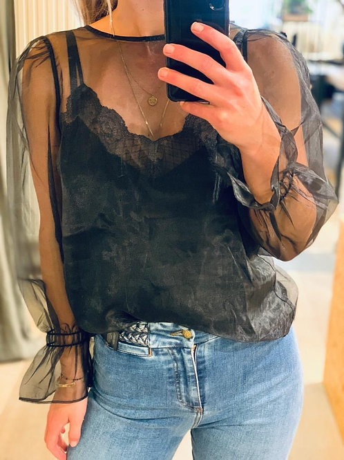 Tobey organza blouse 95476
