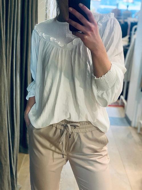 Crepe mix blouse 95583