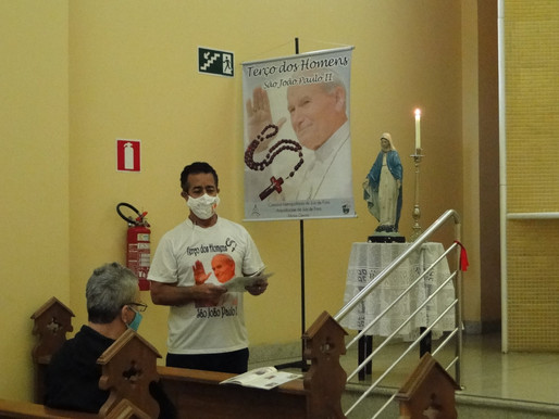 Terço dos Homens São João Paulo II comemora 16 anos com programação especial e campanha de doação