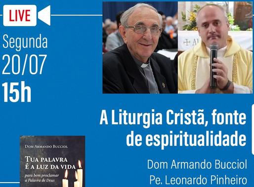 """Pe. Leonardo Pinheiro será mediador de live sobre a """"Liturgia Cristã, fonte de espiritualide"""""""