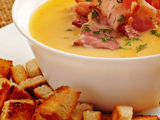Sopa de Batata Baroa e Bacon