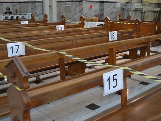Após nova resolução da PJF, presença de fiéis fica restringida a 20% da capacidade das igrejas