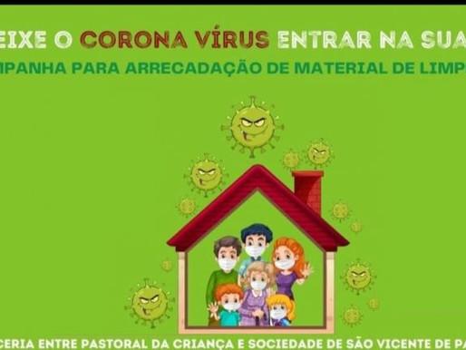 Campanha de combate à Covid-19 é promovida pela Pastoral da Criança da Forania Imaculada Conceição