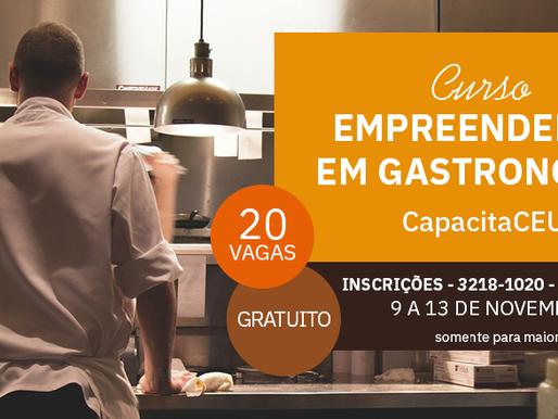 Praça CEU, em Juiz de Fora, oferece curso gratuito de Empreendedor em Gastronomia