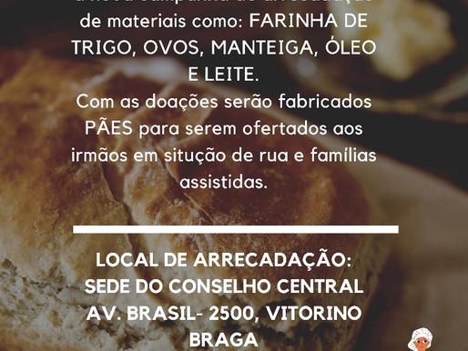 Conselho Central Vicentino realiza campanha Pão da Vida, Pão dos Pobres