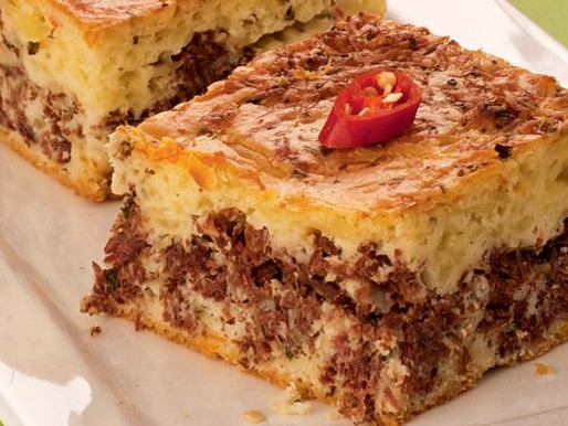 Torta de carne seca de liquidificador