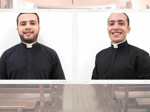 Recém-ordenados, Diáconos Transitórios Alex e Ronny são apresentados em novas paróquias