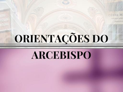 Arcebispo divulga orientações sobre a Quaresma e o Triênio para o Centenário da diocese