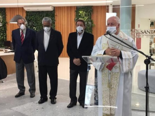 Dom Gil abençoa nova portaria da Santa Casa de Misericórdia de Juiz de Fora
