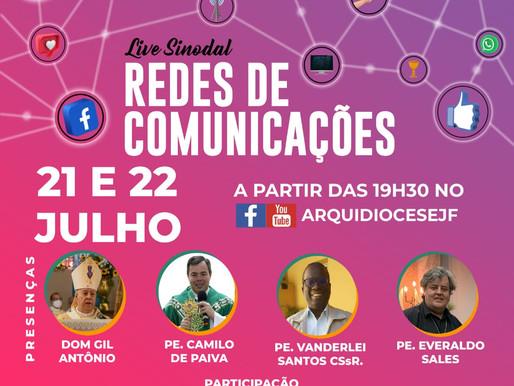 """Arquidiocese de Juiz de Fora transmite Live Sinodal """"Redes de Comunicação"""""""