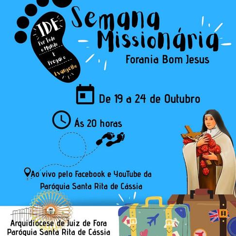 Forania Bom Jesus realiza Semana Missionária em preparação para Dia Nacional da Juventude