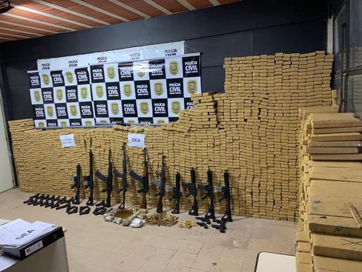 Operação da Polícia Civil faz a maior apreensão de drogas e armas do estado