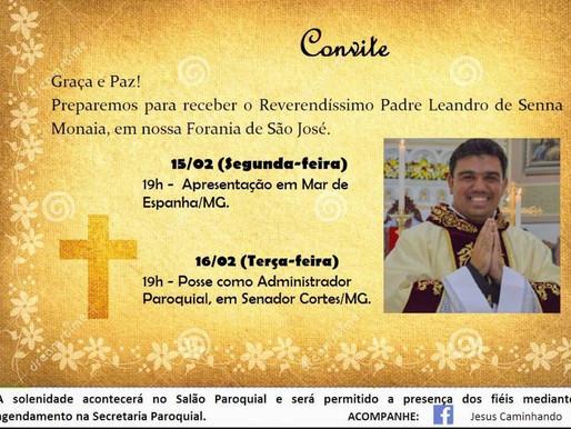Padre Leandro Monaia toma posse e é apresentado em duas paróquias da região