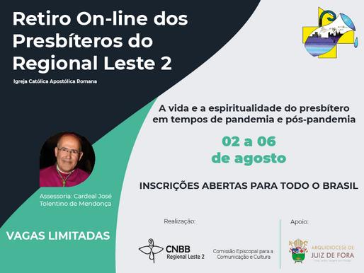Retiro on-line dos Presbiteros do Regional Leste 2 começa nesta segunda-feira, 2