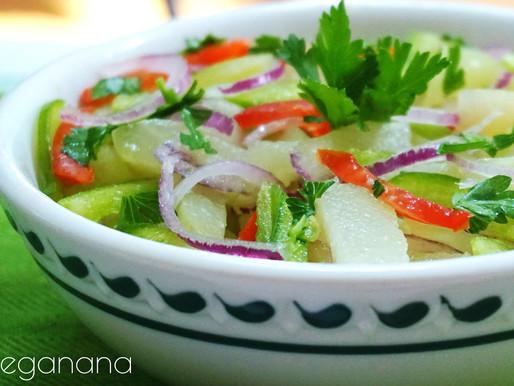 Salada de Chuchu com Cebola e Pimentões