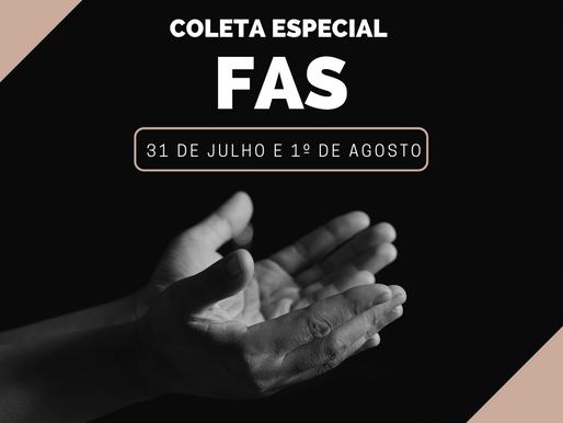 Coleta em prol do FAS acontece no próximo fim de semana